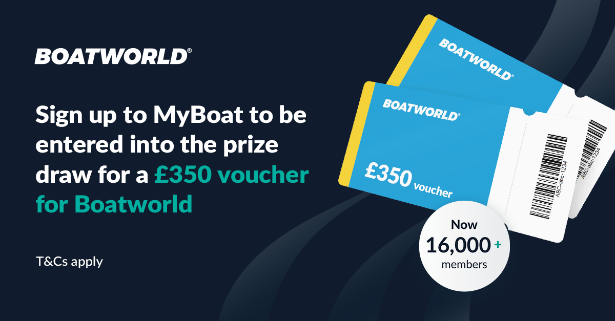 Sign up to MyBoat for a chance to win a £350 voucher for Boatworld!
