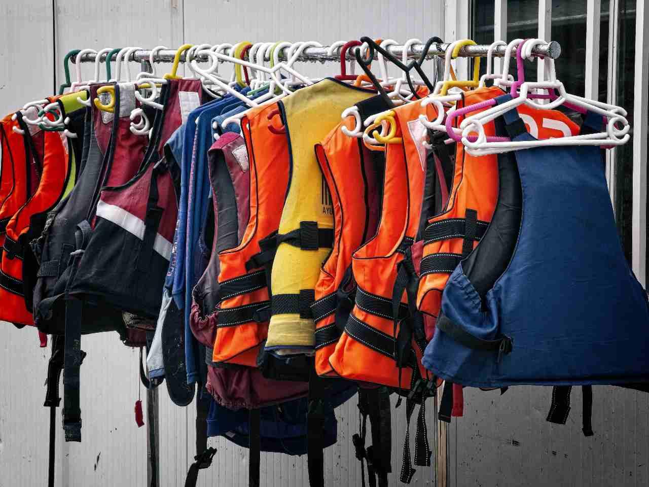 lifejackets on hangers