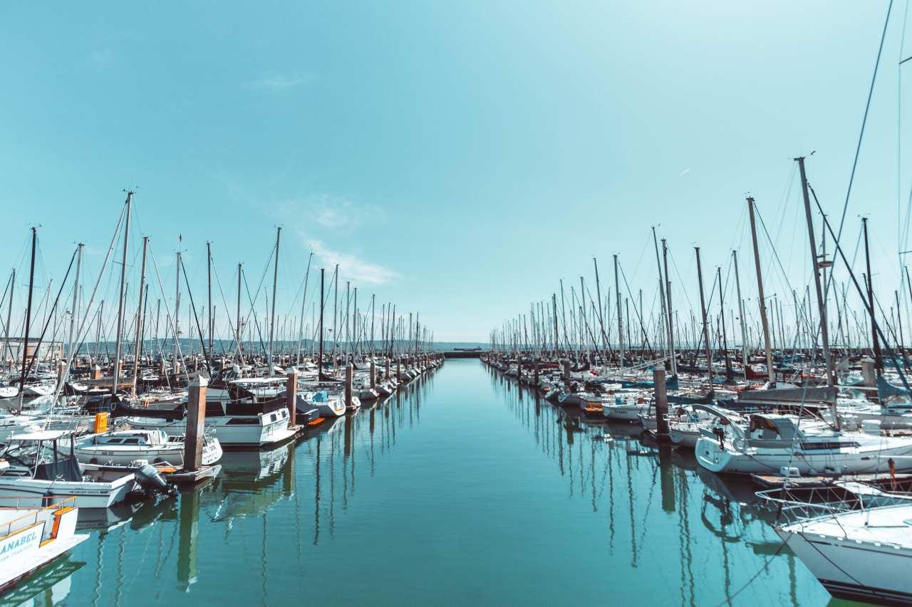 motor boats on marina