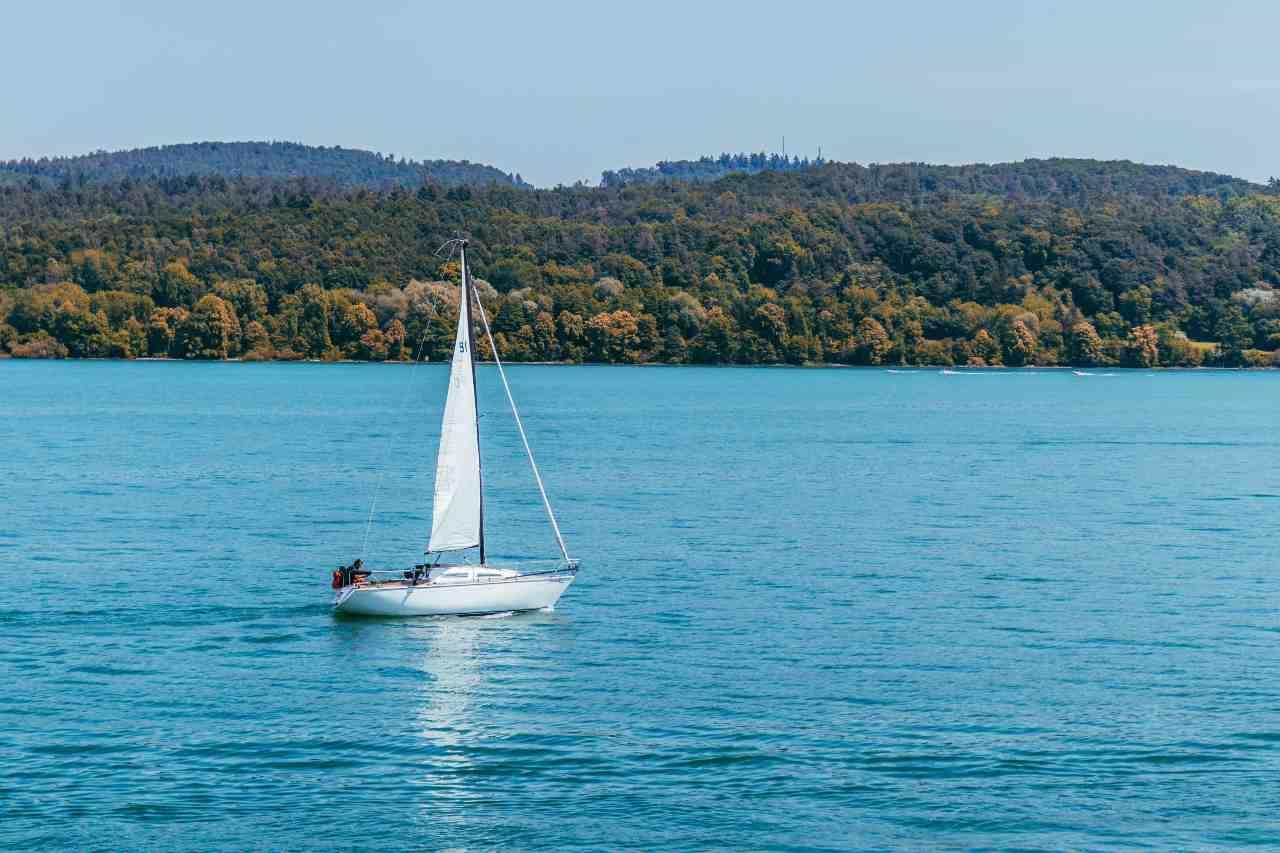 sailing yacht at sea