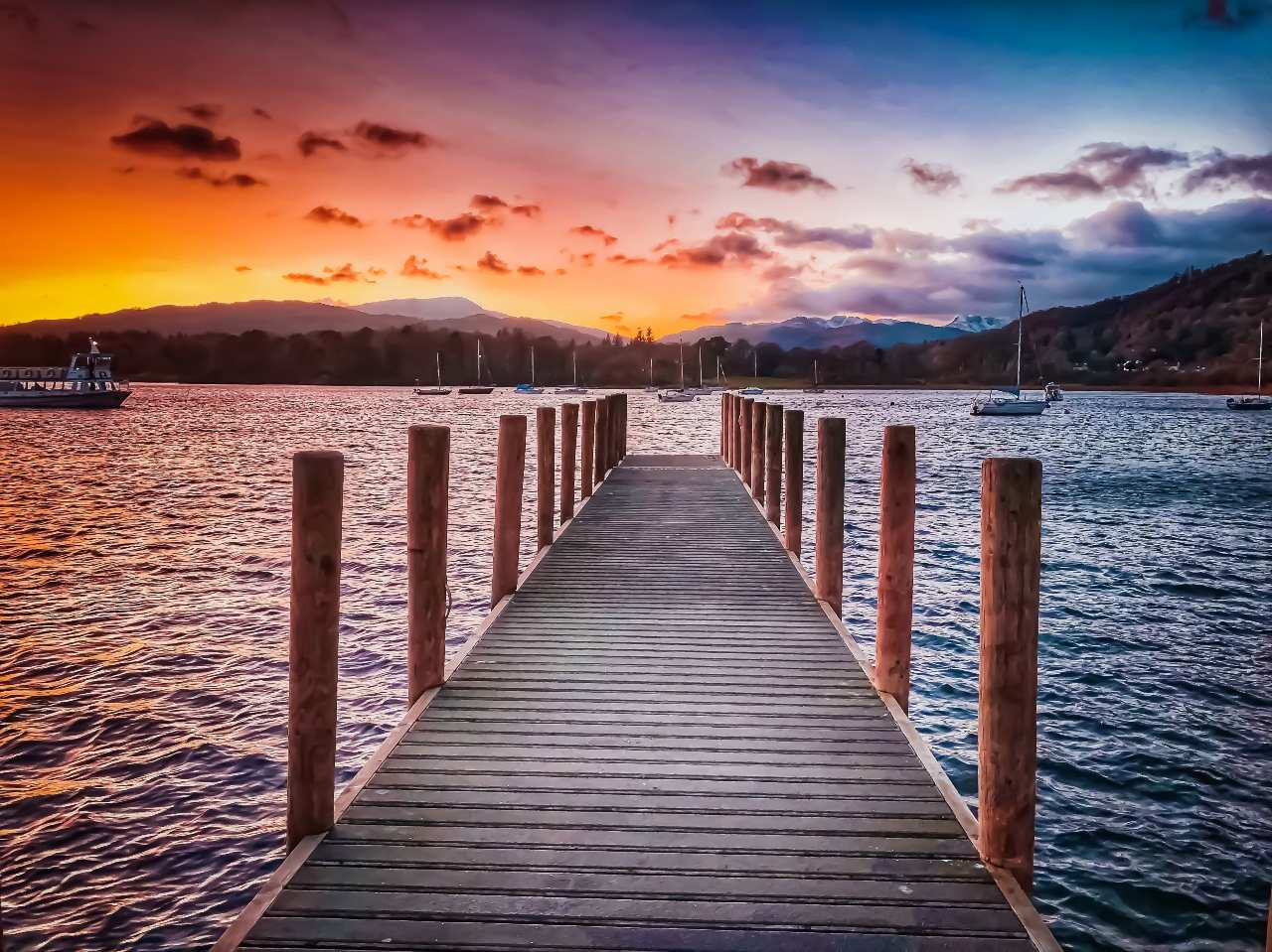 sunset at Lake Windermere